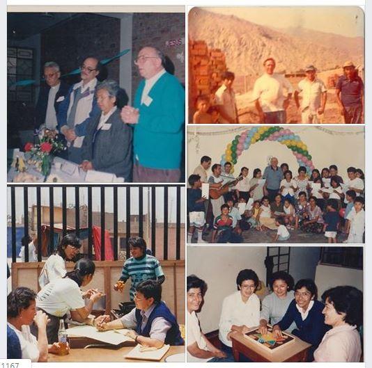 Collage de imágenes - Inicios de la Parroquia San Marcos
